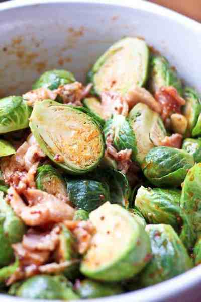 Oven Roasted Brussels Sprouts and Smokey Bacon