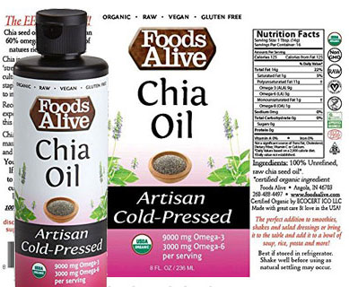 Foods Alive Chia Seed Oil