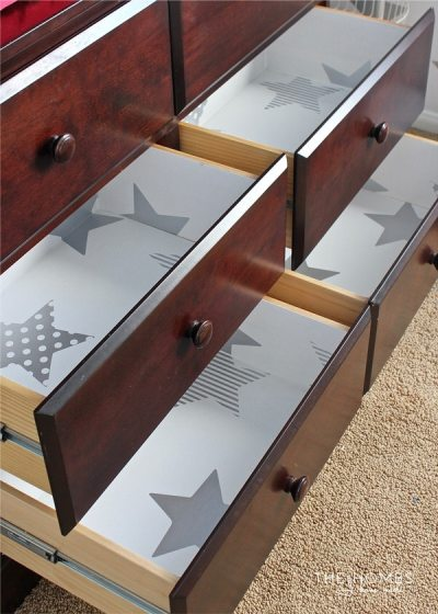 How to Line Drawers with Wallpaper   The Homes I Have Made