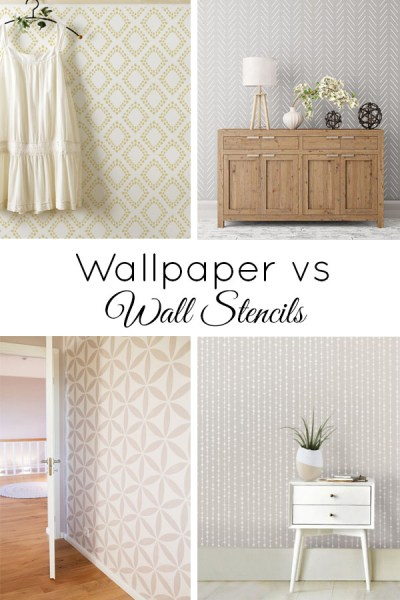 Wall Stencils vs Wallpaper (and a Giveaway!)