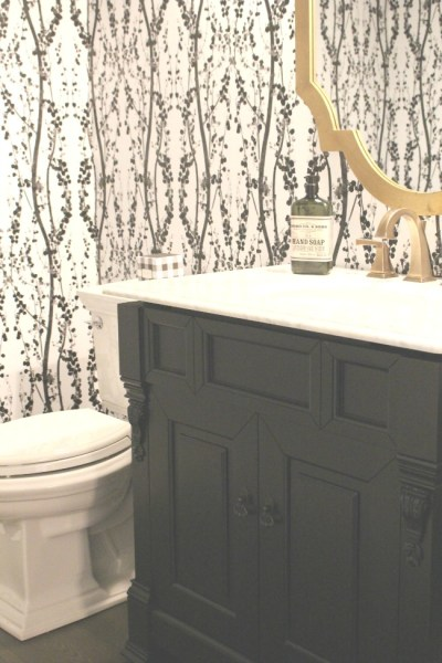 Tempaper Self Adhesive Wallpaper - Bathroom Reveal - The House of Silver Lining