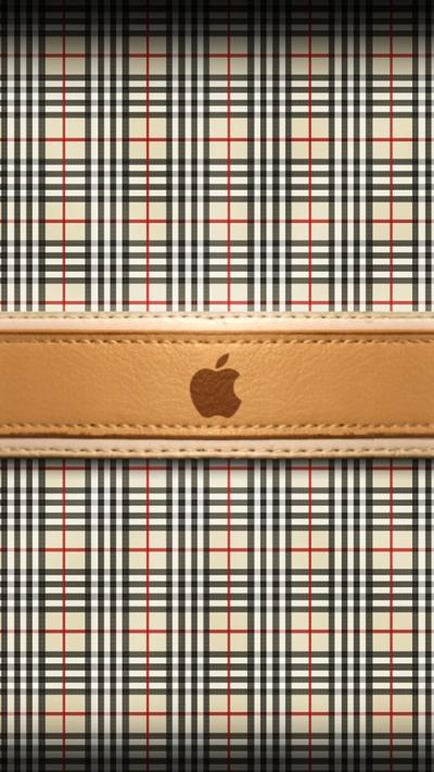 Burberry Apple Logo - The iPhone Wallpapers