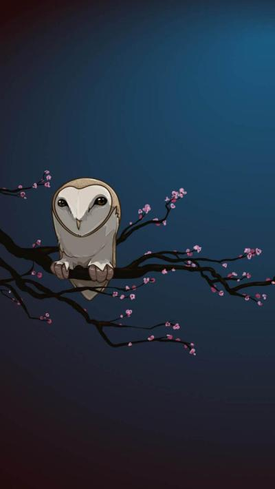 Masked Owl Vector Art - The iPhone Wallpapers