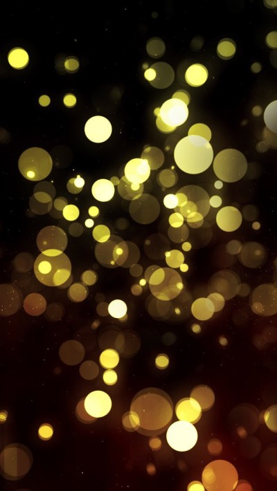 Abstract Golden Bokeh - The iPhone Wallpapers