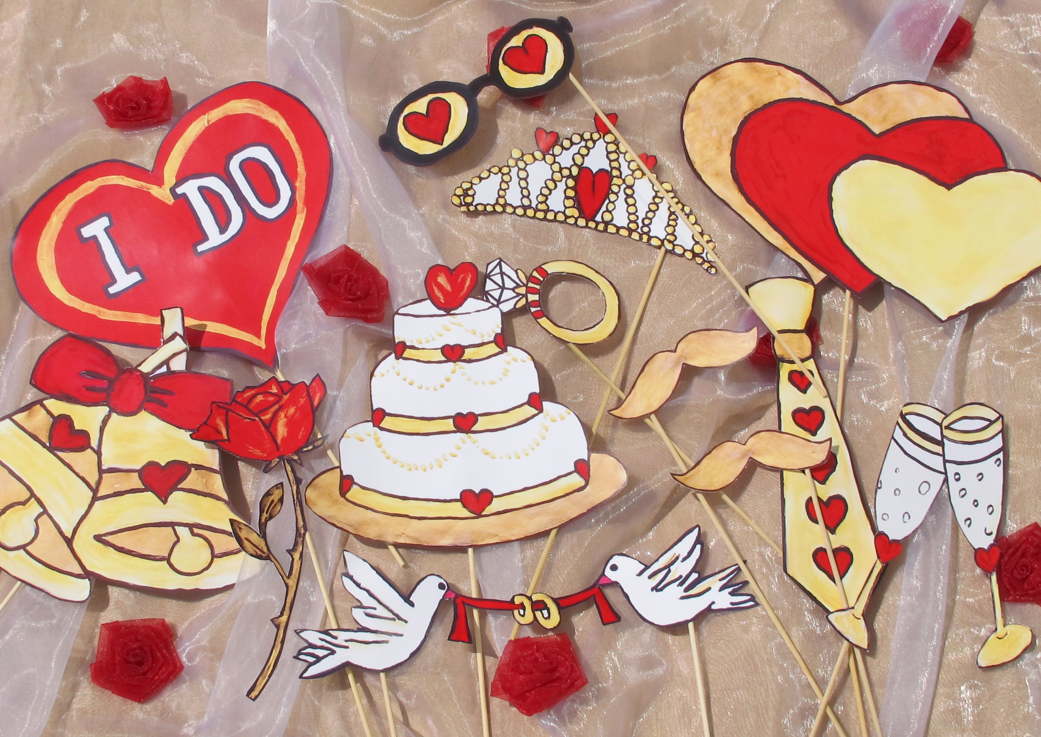 are you crazy in love engagement or wedding photo booth props wedding photo booth props They