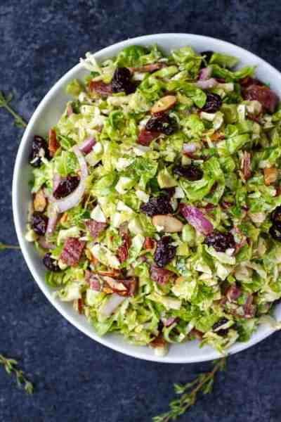 Brussels Sprouts Salad with Citrus Vinaigrette - The Real Food Dietitians