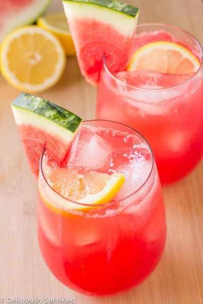 Watermelon Lemonade | Deliciously Sprinkled