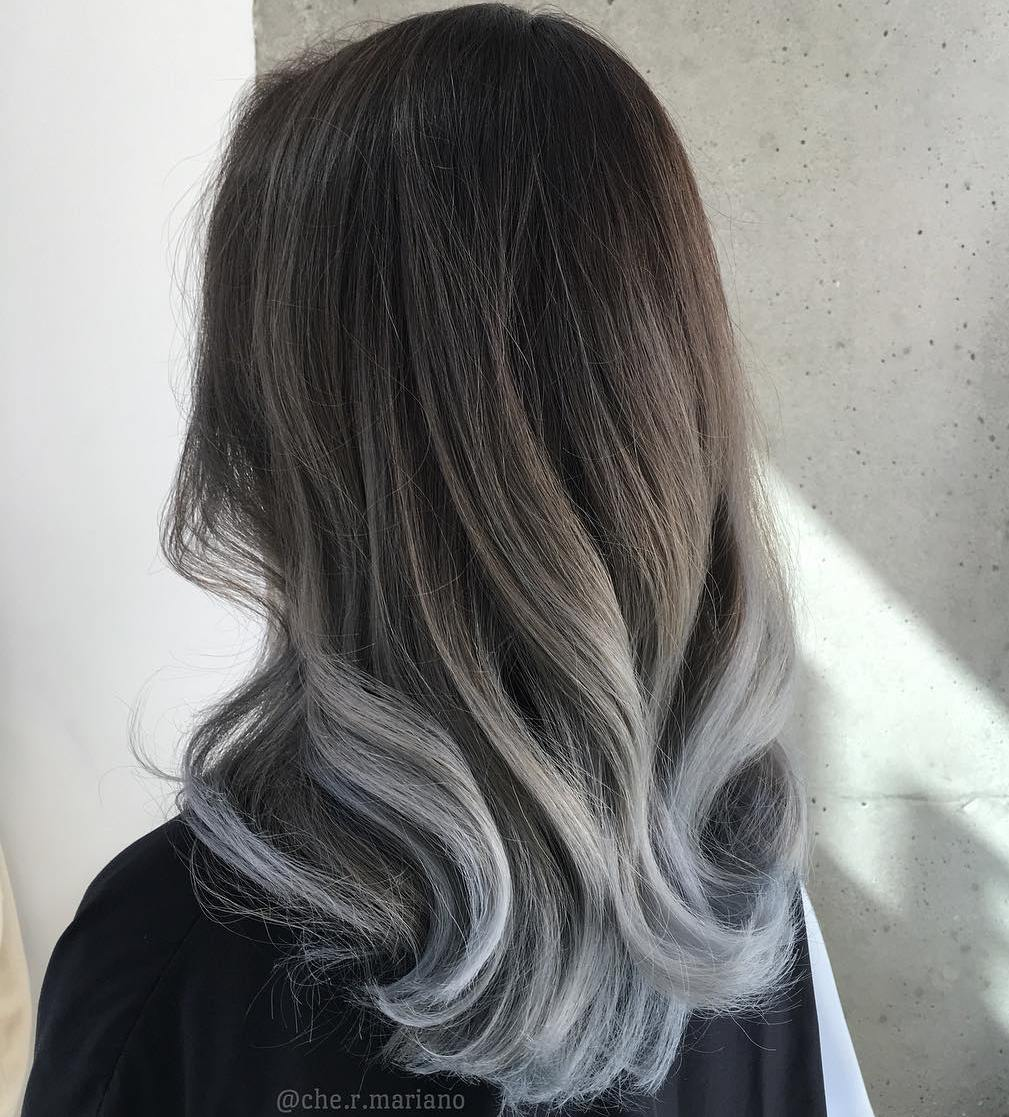 60 Best Ombre Hair Color Ideas for Blond  Brown  Red and Black Hair Brown To Gray Ombre Hair