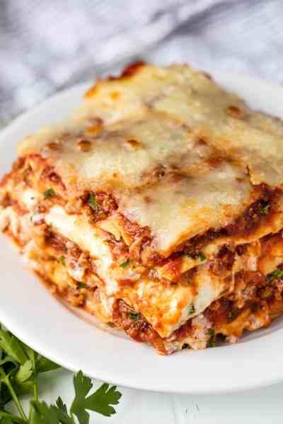 Most Amazing Lasagna 5 - thestayathomechef.com