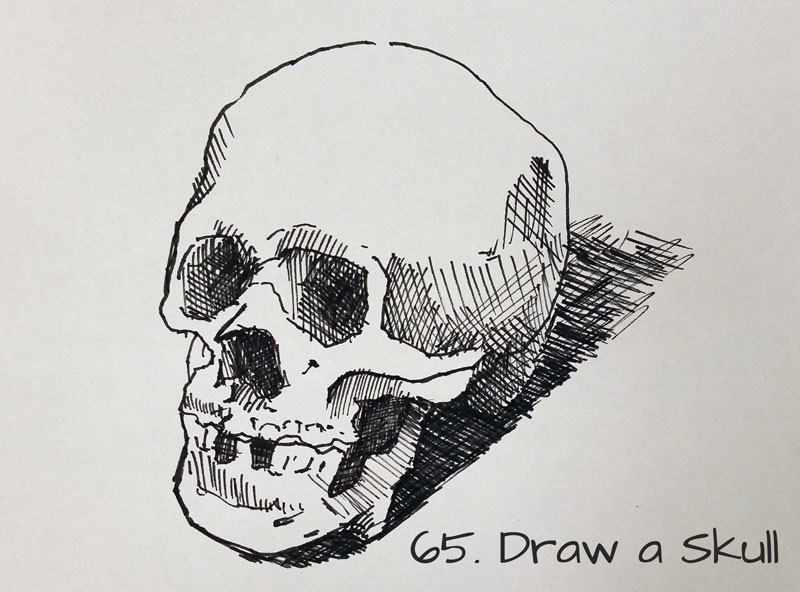 101 Sketchbook Ideas Draw a skull   Sketchbook Idea  65