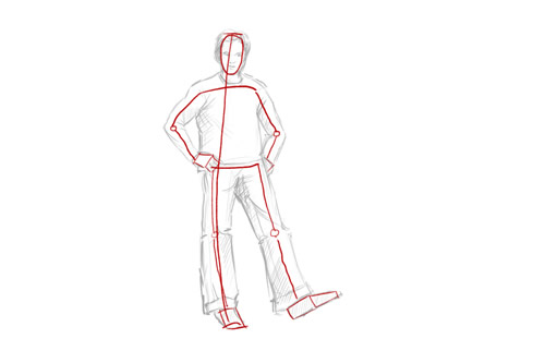 How to Draw a Person   Standing How to draw a person standing stick figure
