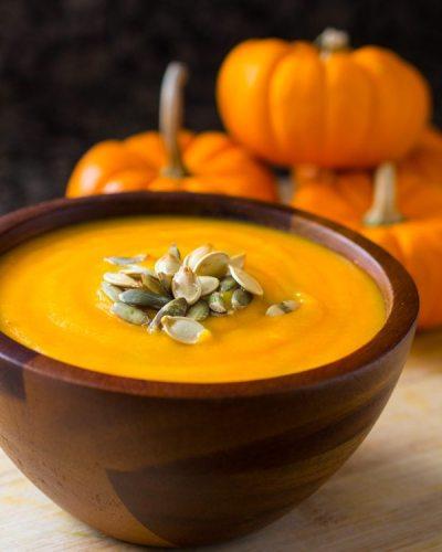 Easy Roasted Pumpkin Soup Recipe (4 Ingredients!) | Nutritarian | Vegan | VIDEO - The Watering Mouth