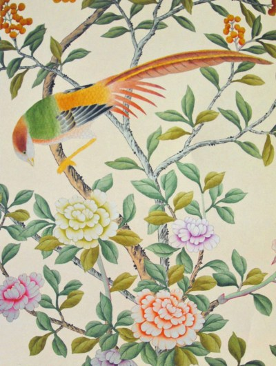 How Do They Do That? Chinoiserie Wallpaper | This Handcrafted Life