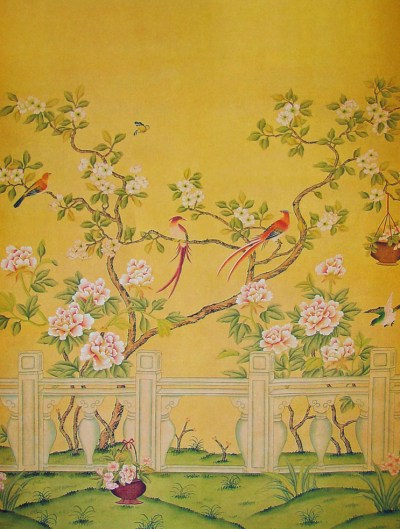 How Do They Do That? Chinoiserie Wallpaper | This Handcrafted Life