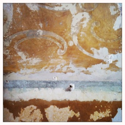 DIY Removing Painted Wallpaper Over Plaster Wall | THIS OLD CRACK HOUSE