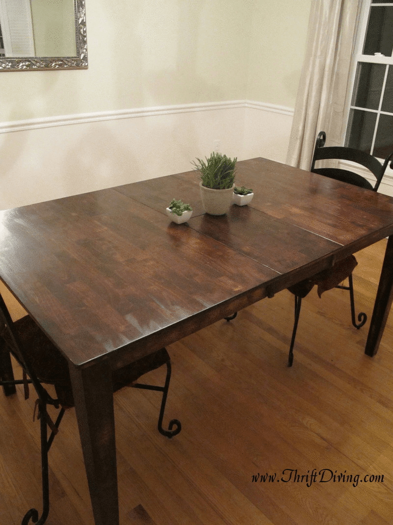 colossal diy failor rustic chic redo kitchen table Or Rustic Dining Room Table Makeover Thrift Diving Blog
