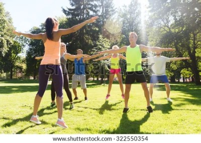 Outdoor Fitness Class Stock Images, Royalty-Free Images ...