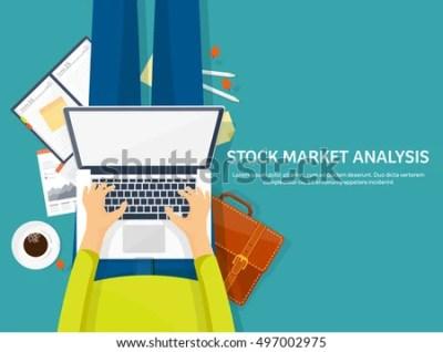 Stock Market Analysisfinanceflat Style Illustrationmoney Investingglobal Stock Vector 492055663 ...