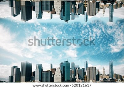Abstract Upside Down Cityscape On Sky Stock Photo 520121617 - Shutterstock