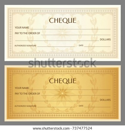 Check Cheque Chequebook Template Guilloche Pattern Stock ...