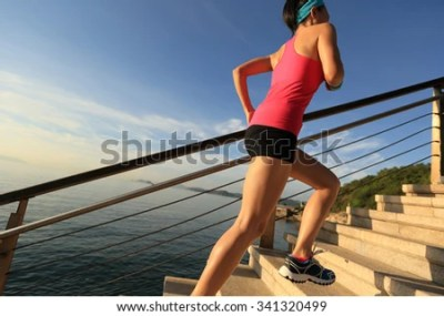 Man Running On Road Guard Rail Stock Photo 407634664 ...