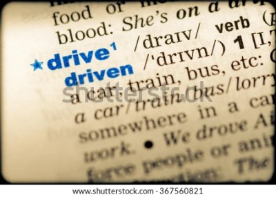 Closeup Word English Dictionary Drive Definition Stock Photo 367560821 - Shutterstock