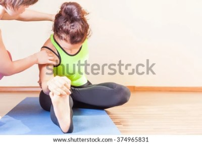 Unrecognizable Person Meditating Doing Yoga Exercise Stock ...
