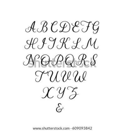 Calligraphy Alphabet Stock Images, Royalty-Free Images ...