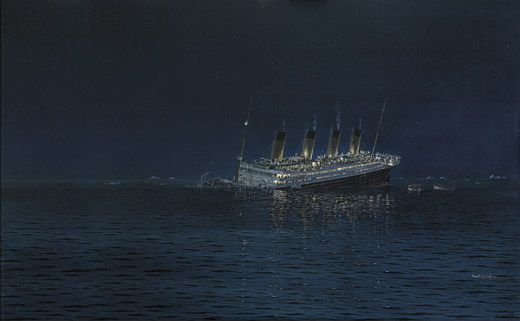 Why the Titanic Still Fascinates Us   History   Smithsonian The sinking of the world s most famous ship on April 15  1912 generated  waves of Titanic mania   Robert G  Lloyd  Marine Artist  England 2011