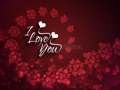 Artistic Maroon Color Love Background With Creativ Stock Vector - Illustration of marry, flirt ...