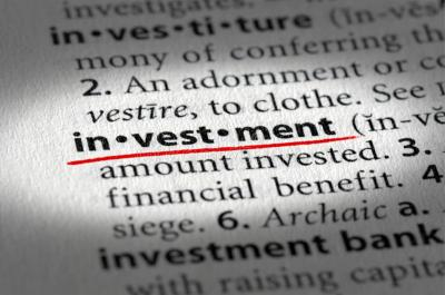 Investment Text And Definition Stock Photo - Image: 15628876