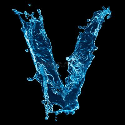 Letter V water splash stock image. Image of alphabet - 29150519