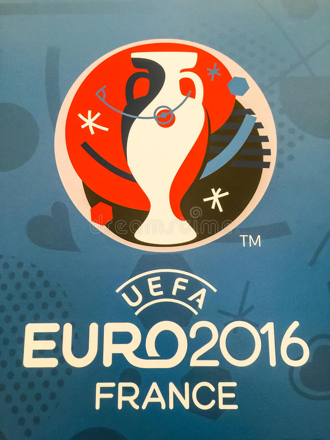 Official Logo Of The 2016 UEFA European Championship In France     Download Official Logo Of The 2016 UEFA European Championship In France  Editorial Stock Photo   Image