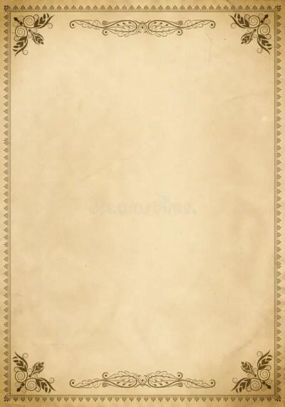 Old Paper Background With Vintage Border. Stock Illustration - Image: 59470029