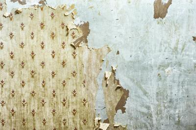 Peeling Wallpaper On Drywall Stock Image - Image of indoors, plaster: 35112061