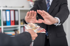 Hand Rejecting An Offer Of Money Stock Photo - Image: 59866672