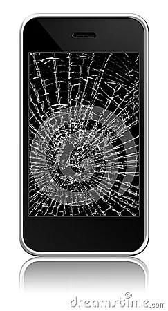Broken Cellphone Stock Photography - Image: 11040072