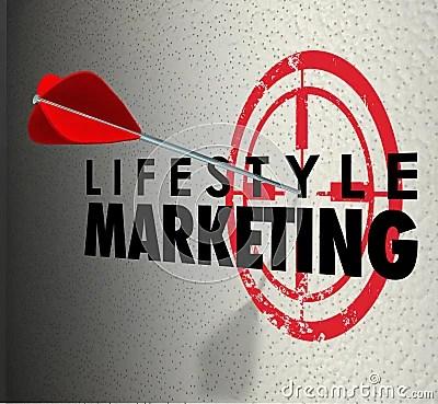 Lifestyle Marketing Words Arrow Hitting Target Personal ...
