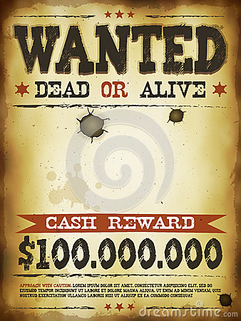 Wanted Vintage Western Poster Stock Vector - Image: 41021366