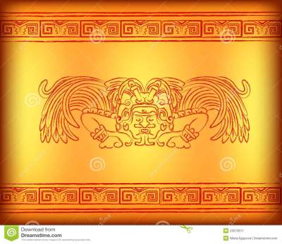 Background Of God Of Ancient America Stock Illustration - Image: 23570611