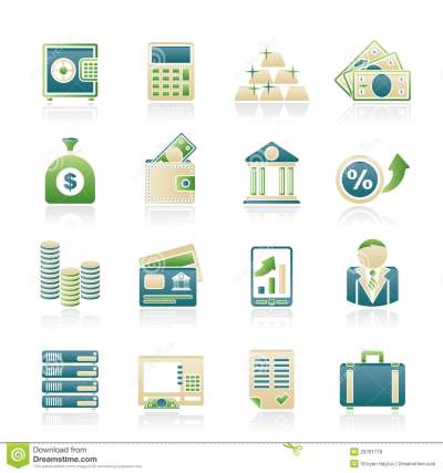 Bank And Finance Icons Royalty Free Stock Photos - Image: 29761778