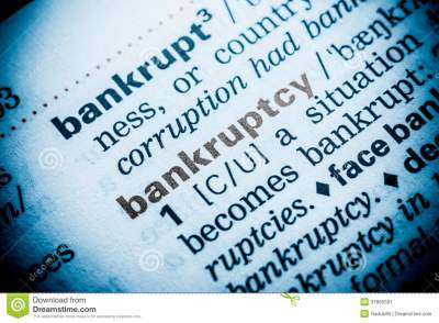 Bankruptcy Word Definition stock image. Image of literacy - 37895581