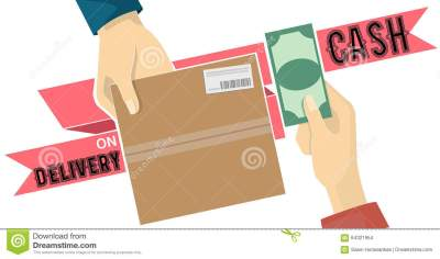 Cash On Delivery,COD Service Vector On Red Tag Stock ...