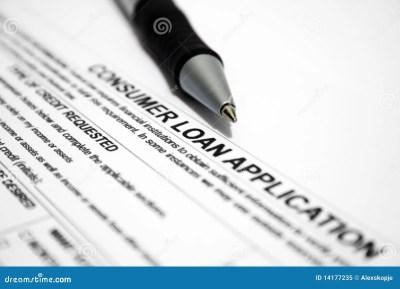 Consumer Loan Application Royalty Free Stock Photo - Image: 14177235