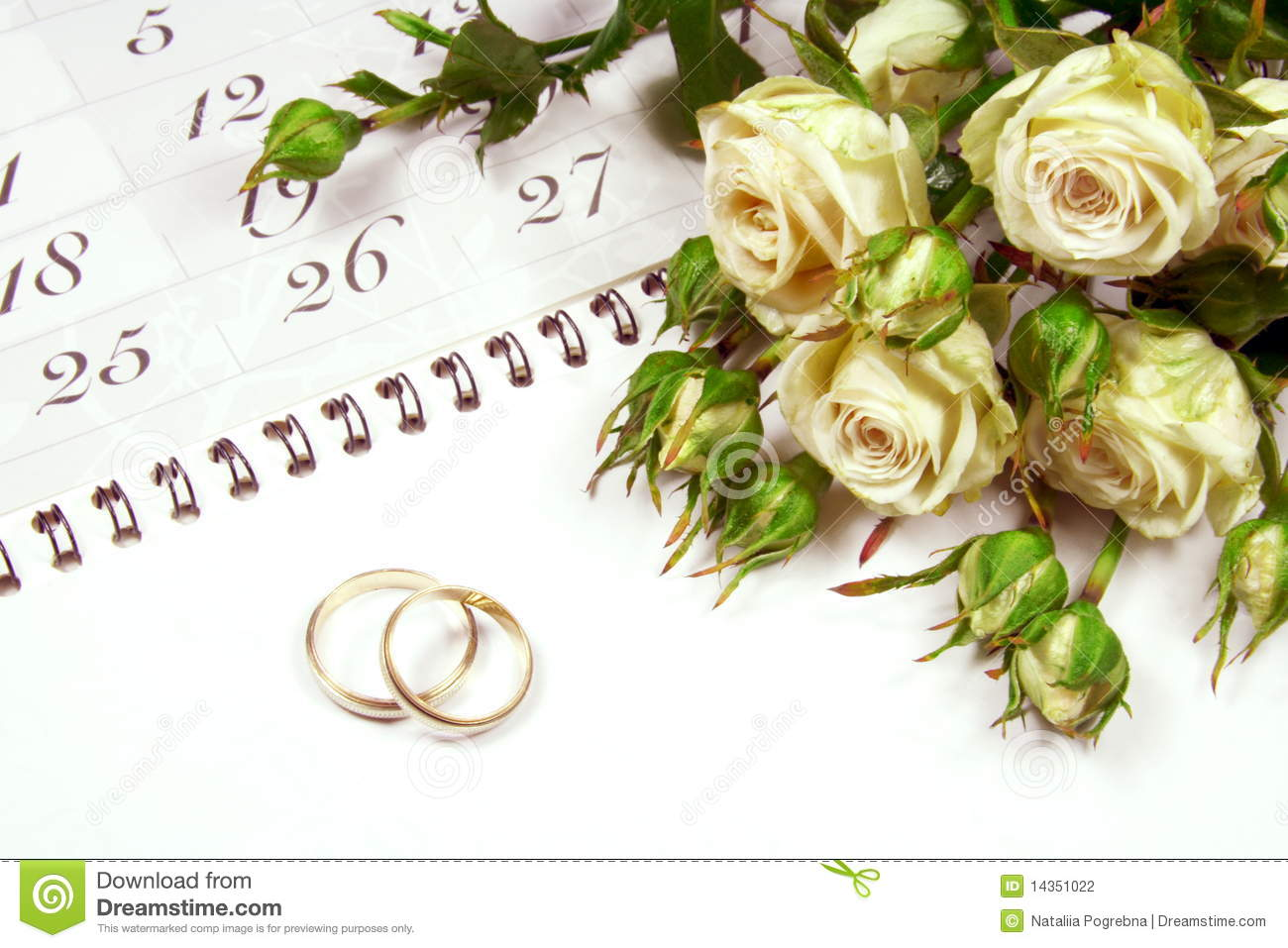stock photography couple wedding rings calender image couples wedding bands Couple of Wedding Rings on Calender