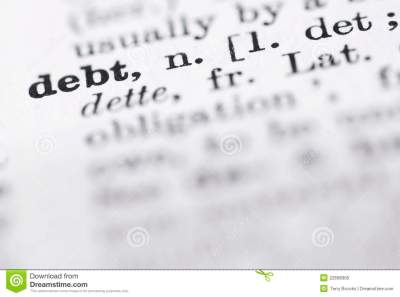 Debt Definition In English Dictionary. Royalty Free Stock Photo - Image: 22698305
