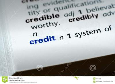 Definition Of Credit Stock Photo - Image: 6427610