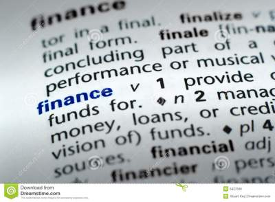 Definition Of Finance Royalty Free Stock Photos - Image: 6427508