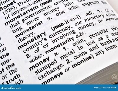 Definition Of Money Royalty Free Stock Image - Image: 19377736