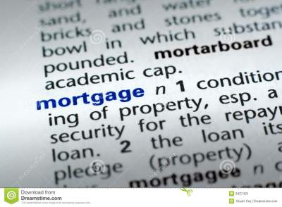 Definition of Mortgage stock image. Image of credit, foreclosure - 6427425